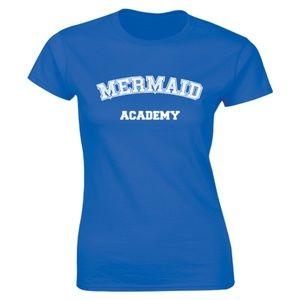 Half It Tops - Mermaid Academy Slogan Fantasy T-shirt Swimmer Tee